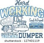 hard working   vector artwork... | Shutterstock .eps vector #127401119