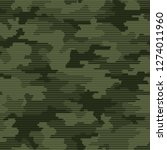 linear camouflage seamless... | Shutterstock .eps vector #1274011960