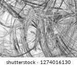 grunge abstract black... | Shutterstock . vector #1274016130
