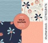 safari themed vector seamless... | Shutterstock .eps vector #1274018476