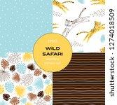 safari themed vector seamless... | Shutterstock .eps vector #1274018509