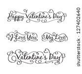 happy valentine's day hand... | Shutterstock . vector #127402640