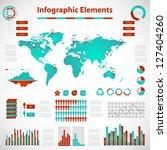 set elements of infographics... | Shutterstock .eps vector #127404260