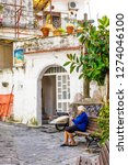 italy  may 2015   an old lady... | Shutterstock . vector #1274046100