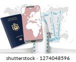liechtenstein passport on the... | Shutterstock . vector #1274048596