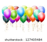 bunch of colorful balloons on... | Shutterstock . vector #127405484