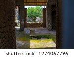 ancient ruins in pompeii ... | Shutterstock . vector #1274067796