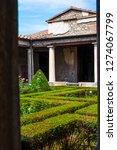 ancient ruins in pompeii ... | Shutterstock . vector #1274067799