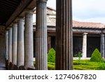 ancient ruins in pompeii ... | Shutterstock . vector #1274067820