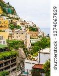 hillside buildings in amalfi... | Shutterstock . vector #1274067829