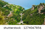 view of amalfi coast along the... | Shutterstock . vector #1274067856