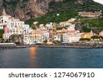 view of amalfi city in italy....   Shutterstock . vector #1274067910