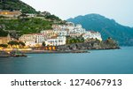 view of amalfi city in italy....   Shutterstock . vector #1274067913