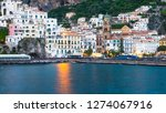 view of amalfi city in italy....   Shutterstock . vector #1274067916