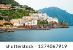view of amalfi city in italy....   Shutterstock . vector #1274067919