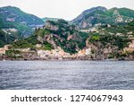 view of amalfi city in italy....   Shutterstock . vector #1274067943