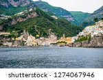 view of amalfi city in italy....   Shutterstock . vector #1274067946
