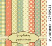 scrapbook paper seamless | Shutterstock .eps vector #127409156