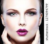 close up fashion model woman... | Shutterstock . vector #1274094799