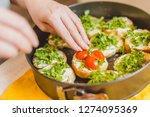 home cooking   recipes in... | Shutterstock . vector #1274095369