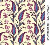 paisley seamless pattern.... | Shutterstock . vector #127409624