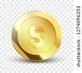 coin vector illustration. money ... | Shutterstock .eps vector #1274096353