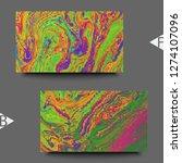 abstract fluid creative... | Shutterstock . vector #1274107096