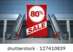 80 percent sale advertising...   Shutterstock . vector #127410839
