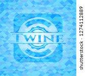 twine light blue emblem with...   Shutterstock .eps vector #1274112889