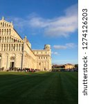 pisa city in tuscany  italy.... | Shutterstock . vector #1274126203