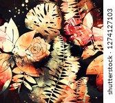 imprints abstract tropical... | Shutterstock . vector #1274127103