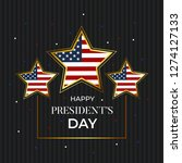 president's day illustration... | Shutterstock .eps vector #1274127133