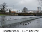 river and city    sunken...   Shutterstock . vector #1274129890