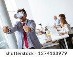 businessman making team... | Shutterstock . vector #1274133979