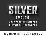 silver emblem style font ... | Shutterstock .eps vector #1274135626