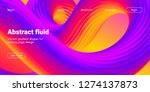 colorful 3d abstract background.... | Shutterstock .eps vector #1274137873