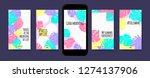 pastel tropic frames for... | Shutterstock .eps vector #1274137906