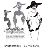 illustrated beautiful elegant... | Shutterstock .eps vector #127415648