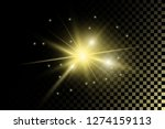 vector bright gold transparent... | Shutterstock .eps vector #1274159113