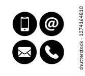communication icons in the... | Shutterstock .eps vector #1274164810