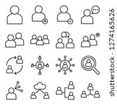 people icons pack. isolated... | Shutterstock .eps vector #1274165626
