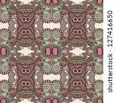 geometry vintage floral... | Shutterstock . vector #127416650