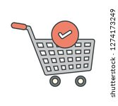 vector verified cart items icon  | Shutterstock .eps vector #1274173249