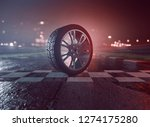 tire on racing track  3d...   Shutterstock . vector #1274175280
