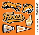 fox sport team mascot set | Shutterstock .eps vector #1274184643