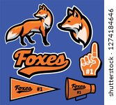 fox mascot set collection in... | Shutterstock .eps vector #1274184646