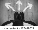 concept of choices of a... | Shutterstock . vector #127418594