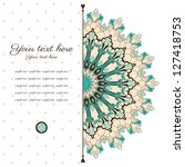 Vector Abstract Card. Vintage...