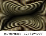 abstract gold color warped... | Shutterstock .eps vector #1274194039