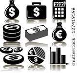 set business money of icons | Shutterstock .eps vector #127419596